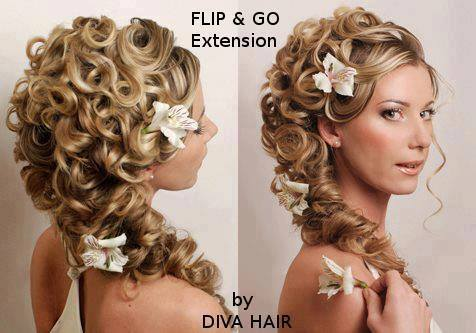 Temporary extensions flipngo diva hair diva hair flip go is the easy replacement for clip in hair extensions with its revolutionary clip free design comes in 18 inch 22 inch and 24 inch pmusecretfo Images