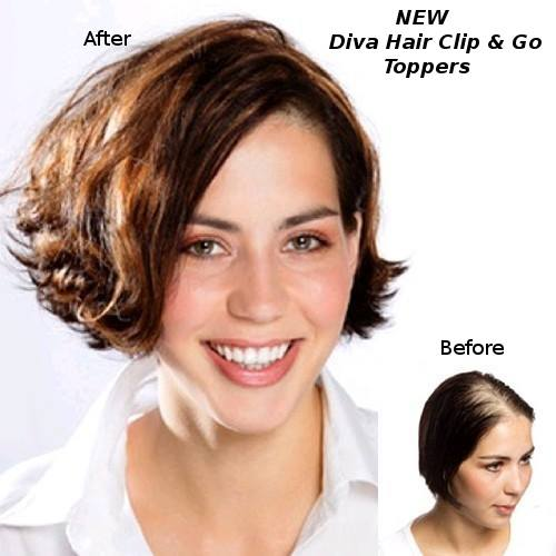 Temporary extensions toppers diva hair the clip go is a hair topper that adds instant length thickness and volume to your hair solutioingenieria Gallery